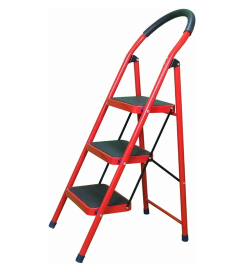 Swell 3 Steps 4 3 Ft Mild Steel Step Ladder By Alnico Caraccident5 Cool Chair Designs And Ideas Caraccident5Info