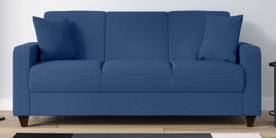 Alba 3 Seater Sofa in Denim Blue Colour by Woodsworth