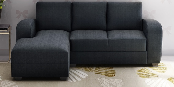 Alex RHS Sofa with Lounger in Dark Grey Colour by Muebles Casa