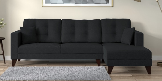Tremendous Alfredo 3 Seater Lhs Sectional Sofa In Charcoal Grey Colour By Casacraft Dailytribune Chair Design For Home Dailytribuneorg