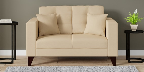 Alfredo 2 Seater Sofa In Beige Colour By Casacraft