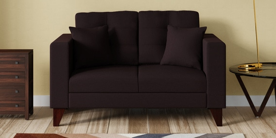Alfredo 2 Seater Sofa in Chestnut Brown Colour by CasaCraft