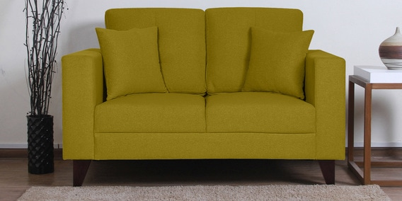 Alfredo Two Seater Sofa In Olive Green Colour By Casacraft