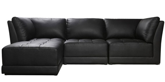 Upto 50% Off On Furny Sofas By Pepperfry | Alia Modular leatherette Interchangeable Sectional Sofa in Black Color by Furny @ Rs.33,291