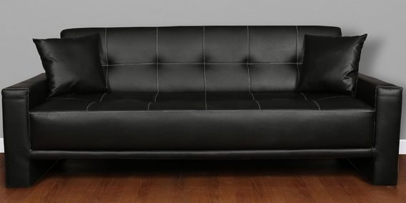 Altiza King Sofa Bed In Black Leatherette By Cloud 9 Furniture