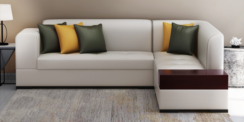 Surprising Alden Lhs Sofa In Light Grey Leatherette By Evok Gmtry Best Dining Table And Chair Ideas Images Gmtryco