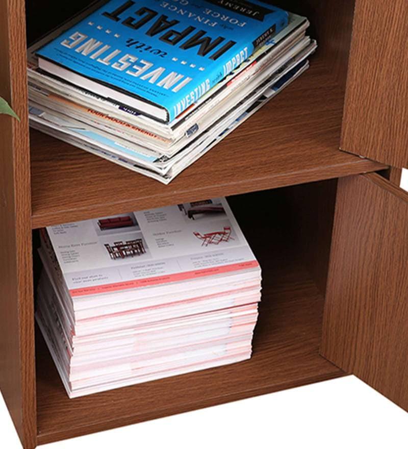 Albert 4 Tier Storage Cabinet in Oak Finish By HomeTown
