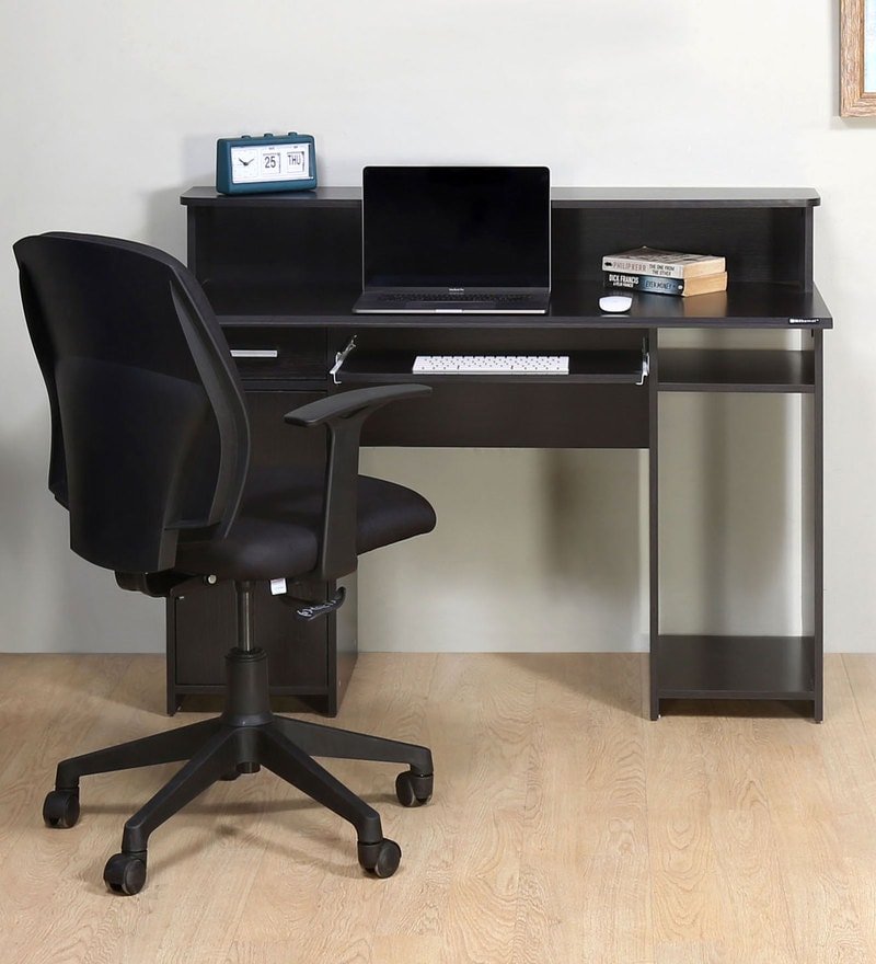 Buy Aldrich Computer Table in Wenge Colour By Nilkamal Online - Computer  Tables - Tables - Furniture - Pepperfry Product