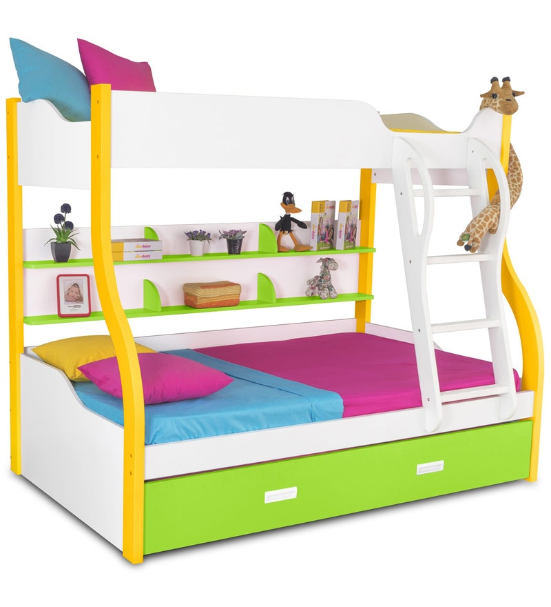 Buy Columbia Kids Bunk With Trundle Bed In Yellow Green By
