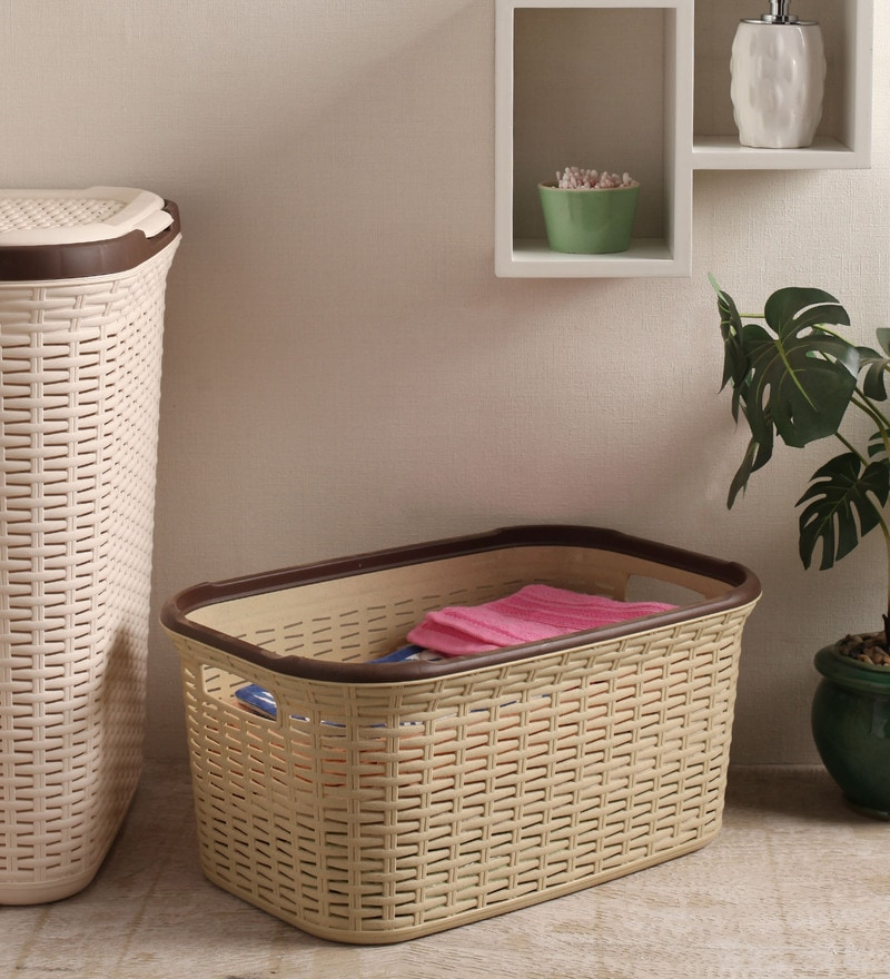 All Time Plastic Beige 27 L Cresta Basket