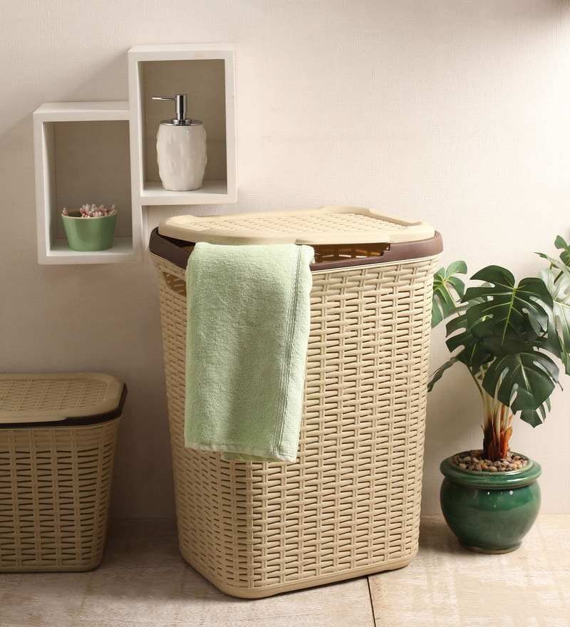 All Time Plastic Beige 50 L Cresta Basket