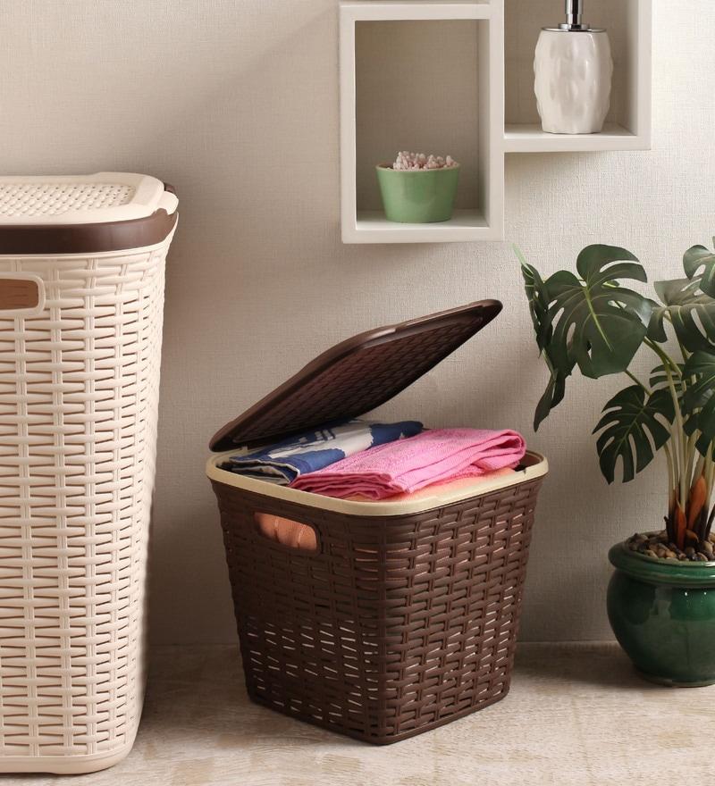 All Time Plastic Brown 15 L Cresta Basket