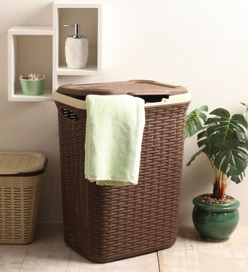 All Time Plastic Brown 50 L Cresta Basket
