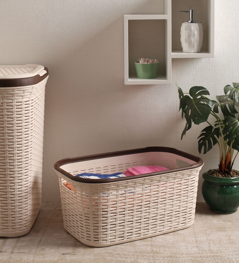 All Time Plastic Cream 27 L Cresta Basket