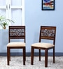 Alder Cushioned Dining Chair (Set of Two) in Provincial Teak Finish by Woodsworth
