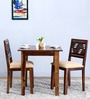 Alder Two Seater Cushioned Dining Set  in Provincial Teak Finish by Woodsworth