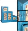 Daft Cabinet in Azure Blue Distress Finish by Bohemiana