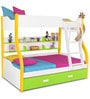 Columbia Kids Bunk with Trundle Bed in Yellow Green by Alex Daisy