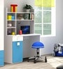 Orlando Study Table in Blue and White Colour by Alex Daisy