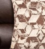 Almanzo One Seater Sofa with Cushions in Brown Colour by CasaCraft
