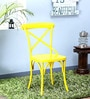 Alva Metal Chair in Yellow Color by Bohemiana