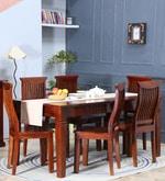 Tremlett Six Seater Dining Set in Honey Oak Finish