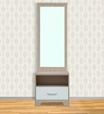 Ambra Dressing Table with Full Mirror in White Colour