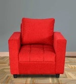 Amy One Seater Sofa in Red Colour