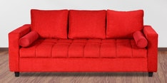 Amy Three Seater Sofa in Red Colour