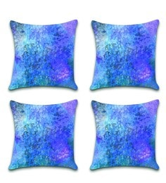 Ambbi Collections Multicolour Satin 16 X 16 Inch Digitally Printed Cushion Cover - Set Of 4