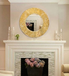 Amelia Hand-Crafted Decorative Round Wall Mirror