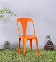 Amos Metal Chair In Orange Color