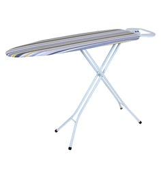 Amos Princess Stripped Print Cover Mild Steel Ironing Board With Oval Iron  Rest