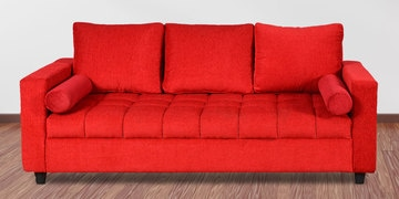 Amy Three Seater Sofa In Red Colour By Cloud 9