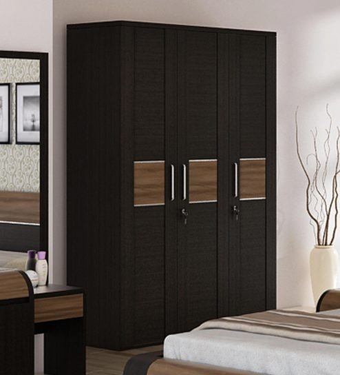 Bedroom Colour Catalogue Fitted Bedroom Cupboards Bedroom Paint Ideas Images Bedroom Decor Pom Poms: Buy Amazon Three Door Wardrobe With Drawer In Wenge Finish