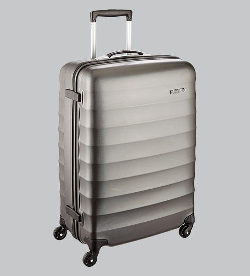 dc3e66298 Buy American Tourister Paralite Grey Polycarbonate Trolley Suitcase ...