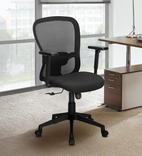 sale retailer 1f4be 3add1 Amul Office Chair in Black Colour by Nilkamal