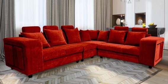Amanda Corner Sofa in Red Colour by Primrose