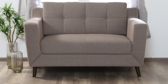 Buy Amanda 2 Seater Sofa In Sandy Brown Colour By Casacraft