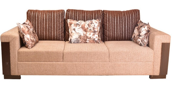 Strange Amazon Fab Three Seater Sofa In Brown Colour By Hometown Download Free Architecture Designs Embacsunscenecom