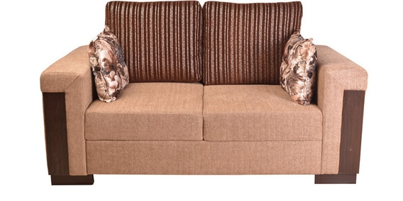 Sensational Amazon Fab Two Seater Sofa In Brown Colour By Hometown Download Free Architecture Designs Embacsunscenecom