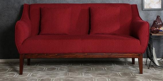 Amelia 3 Seater Sofa In Garnet Red
