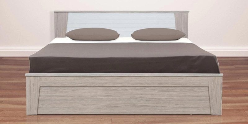 Buy Ambra King Bed with Storage in White Finish by HomeTown Online