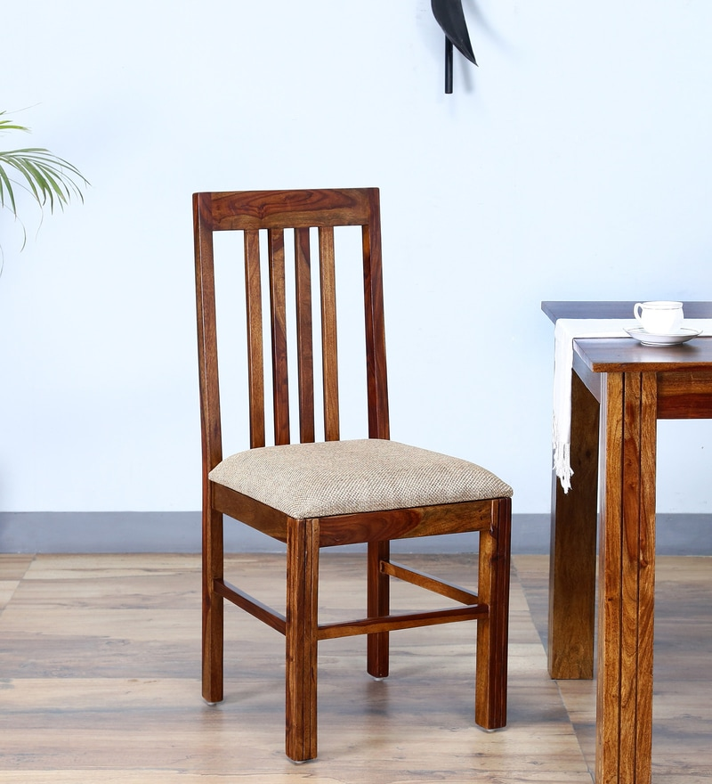 Amery Dining Chair in Provincial Teak Finish by Woodsworth