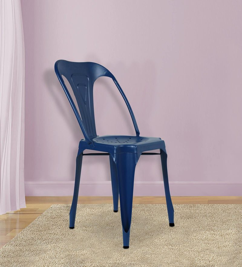 Amos Metal Chair in Blue Color by Bohemiana