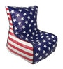 American Flag Digital Printed Kids Bean Bag Chair Cover in Multicolour by Orka