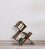 And Book Shelf in Walnut Finish