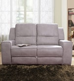Angela Two Seater Recliner Sofa in Light Grey Colour