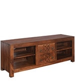 Annulus Low Height Entertainment Unit in Walnut Colour