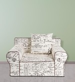 Anywhere Kids' Sofa with Cushion in White